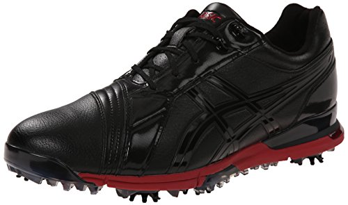 Asics Men's Gel Ace Pro FG Golf Shoe - Black/Black/Red - ...