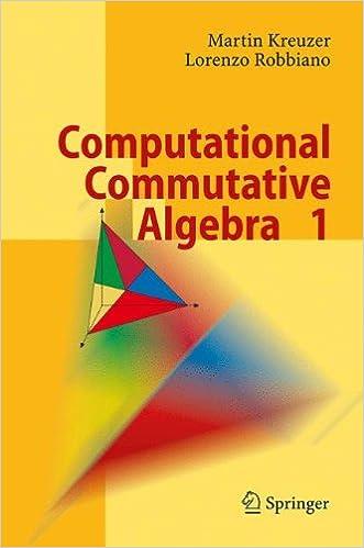 Computational Commutative Algebra 1 (Pt. 1): Martin Kreuzer ...