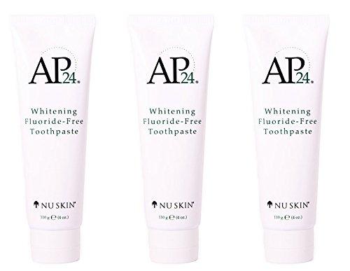 (Nu Skin Nuskin AP24 Whitening Fluoride-Free Toothpaste 110g 4oz New Formula. 3 pack)