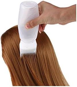 kxrzu Fácil de usar Cepillo del aplicador de la botella del tinte de pelo Cepillo de la tintura del colorante del salón del pelo (blanco)