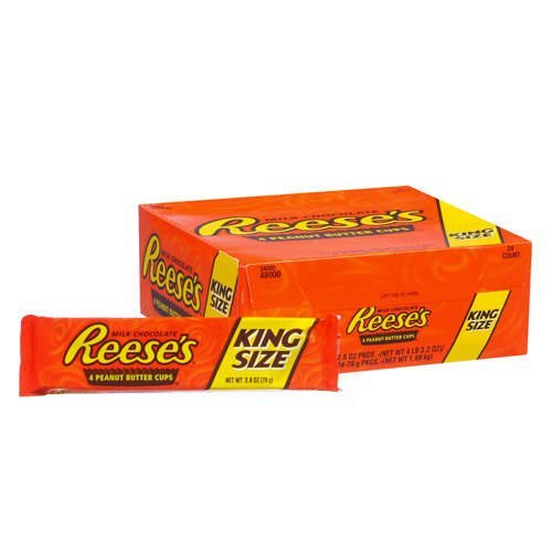 REESE'S Peanut Butter Cups, Chocolate Candy, King Size (Pack of 24) by Reese's