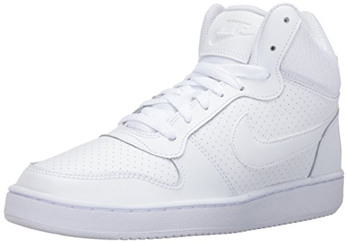 NIKE Women's Court Borough Mid Sneaker, White/White/White, 6.5 B(M) US by NIKE