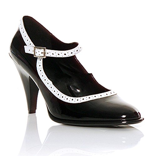 Demonia Betty-01 Gothic Rockabilly Emo Lolita Riemchen Pumps Schuhe Schwarz 35-43