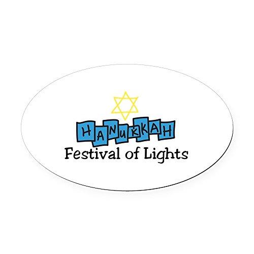 - CafePress - Festival of Lights Oval Car Magnet - Oval Car Magnet, Euro Oval Magnetic Bumper Sticker