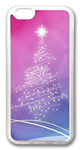 iPhone 6 Case, iPhone 6 Cases -Christmas Lights Tree TPU Custom iPhone 6 Case Cover Transparent
