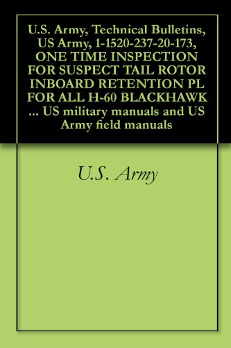 U.S. Army, Technical Bulletins, US Army, 1-1520-237-20-173, ONE TIME INSPECTION FOR SUSPECT TAIL ROTOR INBOARD RETENTION PL FOR ALL H-60 BLACKHAWK HELICOPTERS, ... military manuals and US Army field manuals