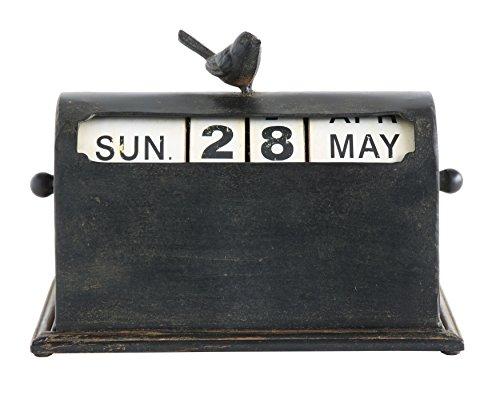 - Creative Co-Op DA6654 Metal Bird Perpetual Calendar with Rust Finish