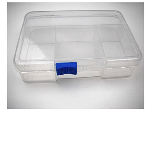 ALL in ONE Clear Plastic Storage Containers with Slide Lock14.5x10x3.5cm