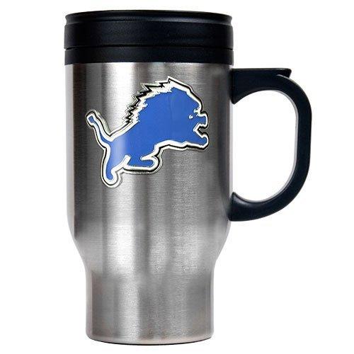 NFL Detroit Lions 16oz Stainless Steel Travel Mug (Primary Logo)