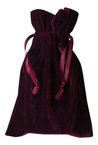 Tarot and Dice Bag: Wine Velvet Bag 6x9