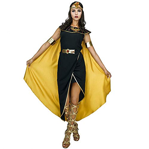 Ytwysj Women's Sexy Egyptian Queen Cleopatra Pharaohs Costume Adult Party Fancy Halloween Costumes with Cape -
