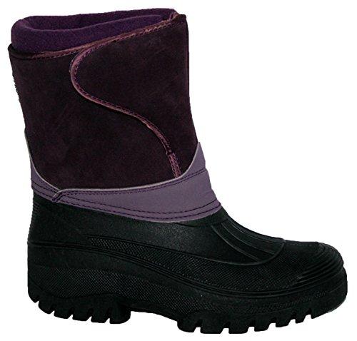 Groundword Paire de bottes imperméables et stables pour femme - violet - Purple Suede,