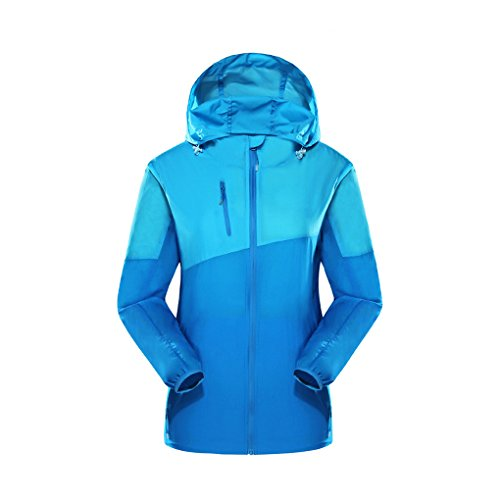 Uv Sportswear Laixing Clothing Sunscreen Outdoor Skin Coat Blue Womens Girls Protection B4wzqE1