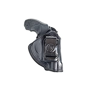 Inside The Pants Waistband Leather Holster for S&W Bodyguard 38. IWB Holster with Clip Conceal Carry.