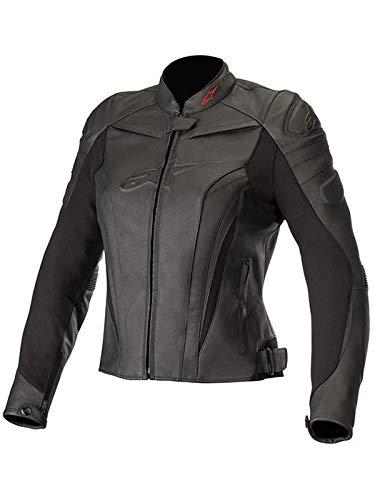 Alpinestars Black-Black Stella Gp Plus R V2 Womens Motorcycle Leather Jacket (Us 14, Black)