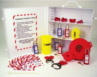 LOCKOUT TAGOUT CABINET WHITE W/ SUPPLIES