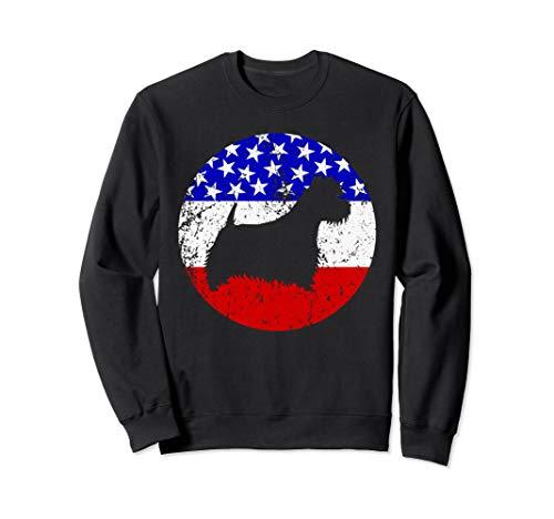 (American Flag Westie Retro West Highland White Terrier Dog Sweatshirt)