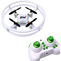 Fineser Mini UFO Quadcopter Drone 2.4G 4CH 4 Axis Remote Control Nano Quadcopter RTF With 3D Flip Flash Light for Kids and Beginner (White)