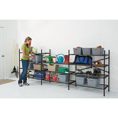 Cosco Instant Storage Shelving Unit, 4 Shelves, 42 3/4 x 20 3/4 x 47 3/4, Black