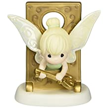 Precious Moments, Birthday Gift, Disney Tinker Bell in Key Hole Figurine, Porcelain Bisque Figurine, 153013