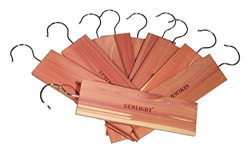 GEM_LIGHT 10 Pack Moth Protection Cedar Hang Up / Pannels Protection for wardrobes Large Size 9
