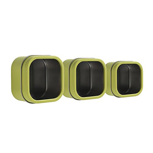 Three by Three Hold Up! Storage Tins, Set of 3, Spring Green