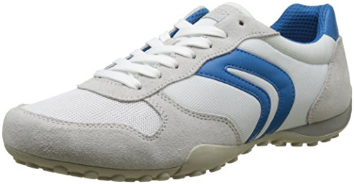 Geox Uomo Snake C, Zapatillas para Hombre Blanco (WHITE/AZUREC1343)
