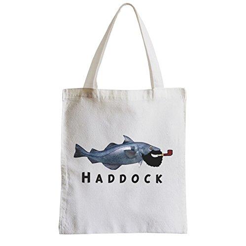 Große Tasche Sack Einkaufsbummel Strand Schüler Kapitän Haddock Fisch Tintin