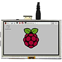 SHCHV 5 Inch 800X480 HDMI Touch Screen Display TFT LCD Screen Monitor for Raspberry Pi 3