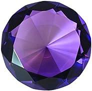 Tripact Diamond Shaped Jewel Crystal 80 mm Diameter Paperweight