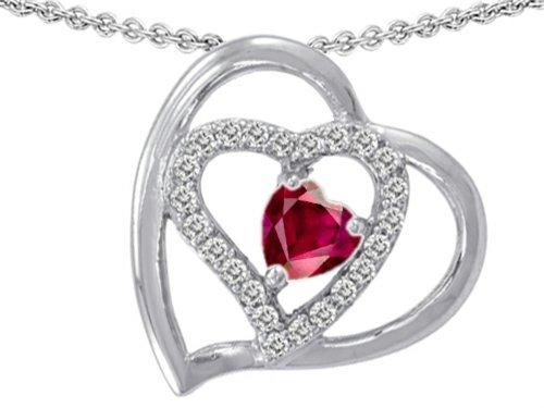 Star K Sterling Silver 6mm Heart Shape Pendant Necklace