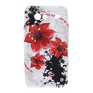 WEV Safflower Pattern TPU Soft Back Cover Case for Samsung Galaxy S Advance I9070