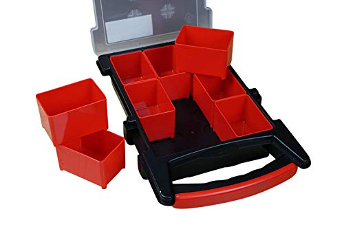 Massca Hardware Box Storage. Hinged Box Made of Durable Plastic in a Slim Design with 9 compartments. Excellent for…