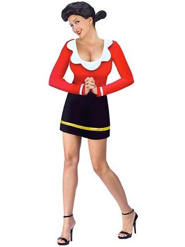 Olive Oyl Costume - Medium/Large - Dress Size (Olive And Popeye Costumes)