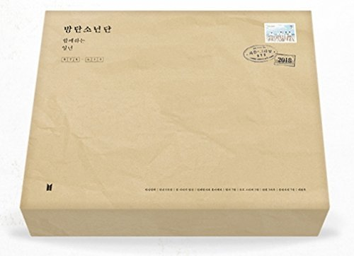 BTS 2018 Season's Greeting, Desk Calendar+Diary+Making DVD+Postcards+2 Stamp Stickers + 3 Pencils + Member ID Photo