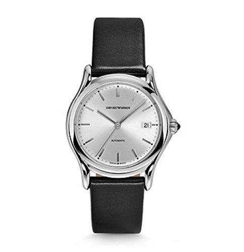 Emporio-Armani-Swiss-Made-Mens-Quartz-Stainless-Steel-and-Leather-Dress-Watch-ColorBlack-Model-ARS3102