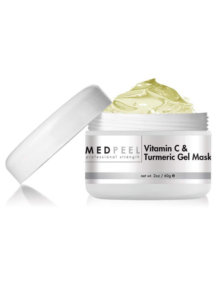 Natural Vitamin C & Turmeric Brightening Gel Face Mask, Anti Aging & Antioxidant, Target Sun Damage & Uneven Skin Tone, Reduce Fine Lines, Wrinkles & Sagging Skin, by Medpeel 2oz / 60ml