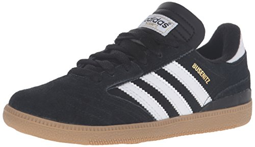 adidas Boys' Busenitz J Sneaker, Core Black/Running White/Metallic/Gold, 2 M US Little Kid
