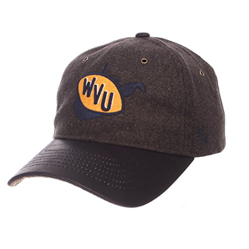 - ZHATS NCAA West Virginia Mountaineers Adult Men Alum Heritage Collection Hat, Adjustable, Heather Gray