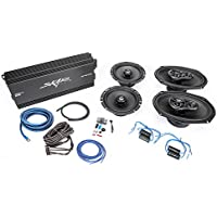 Skar Audio 6.5 and 6x9 Complete Speaker Upgrade Package with Amplifier, Wiring Kit, and Noise Filters
