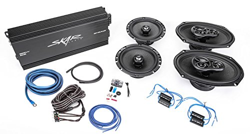 """Skar Audio 6.5"""" and 6""""x9"""" Complete Speaker Upgrade Package with Amplifier, Wiring Kit, and Noise Filters"""