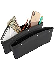 Lusso Gear 2 in 1 Car Seat Gap Organizer - Universal Fit, Storage Pockets Adjust, 2 Set Car Seat Crevice Storage Box, Helps Reduce Distracted Driving & Holds Phone, Money, Cards, Keys, Remote