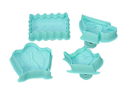 Tea Time Plunger Cookie Cutter 4 pc Set
