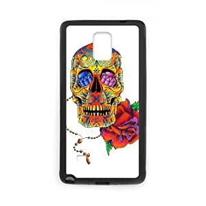 Samsung Galaxy Note 4 Cell Phone Case Black Sugar Skull Cover TUN Phone Case For Guys Plastic