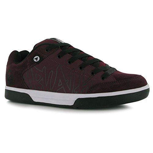 airwalk-outlaw-skate-shoes-mens-burgundy-casual-trainers-sneakers-uk7-eu41