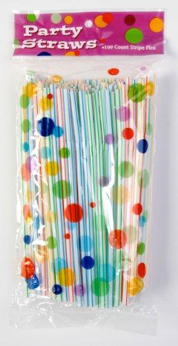 Unique Industries 100 Flexible Party Straws