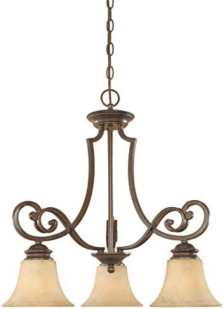 Designers Fountain 81883-FSN 3-Light Down Chandelier, Forged Sienna Mendocino, 23 x 22.75