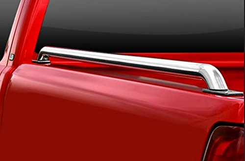HS Power Stainless Steel Chrome Truck Side Bar Rail 75+ Ford F150/F250/F350 8 Ft Bed