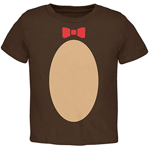 Halloween Teddy Bear Costume Brown Toddler T-Shirt - 4T (Smokey The Bear Costume)