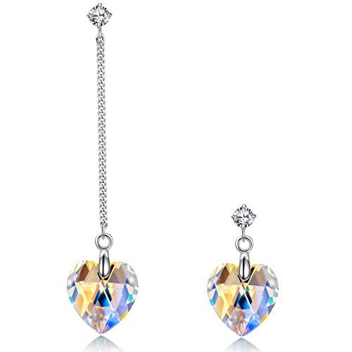 crystal hoop earrings - 4